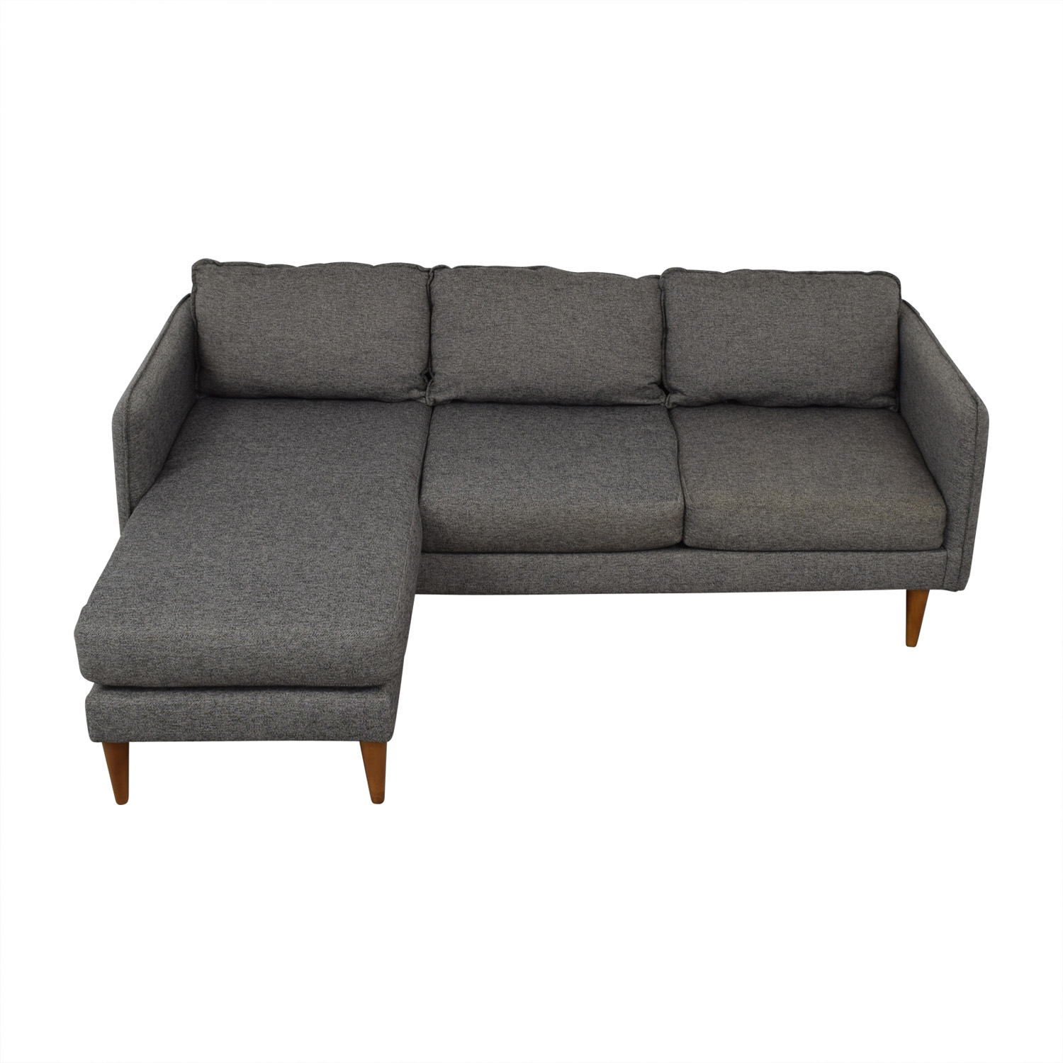 West Elm West Elm Quinn Grey Chaise Sectional used