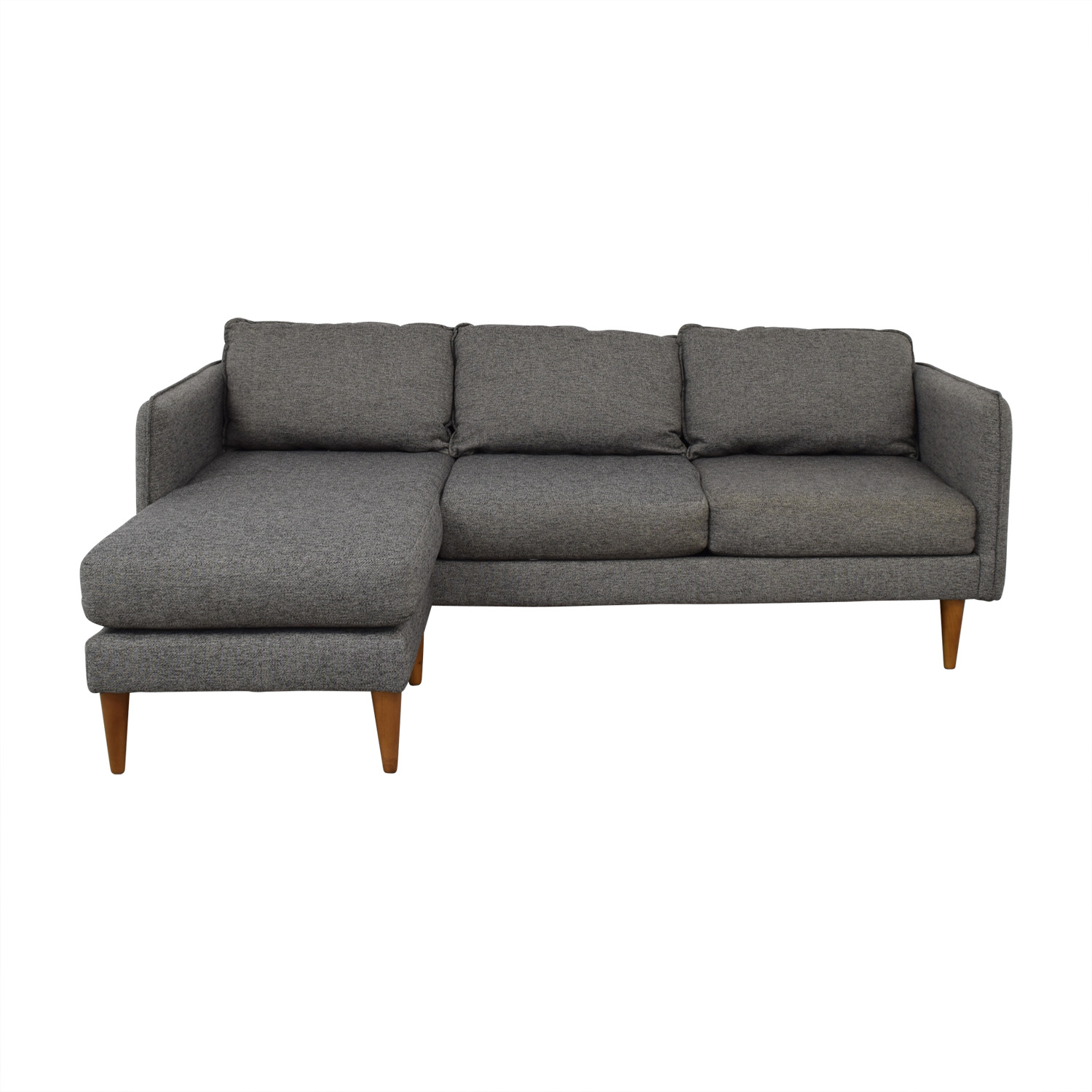 buy West Elm West Elm Quinn Grey Chaise Sectional online