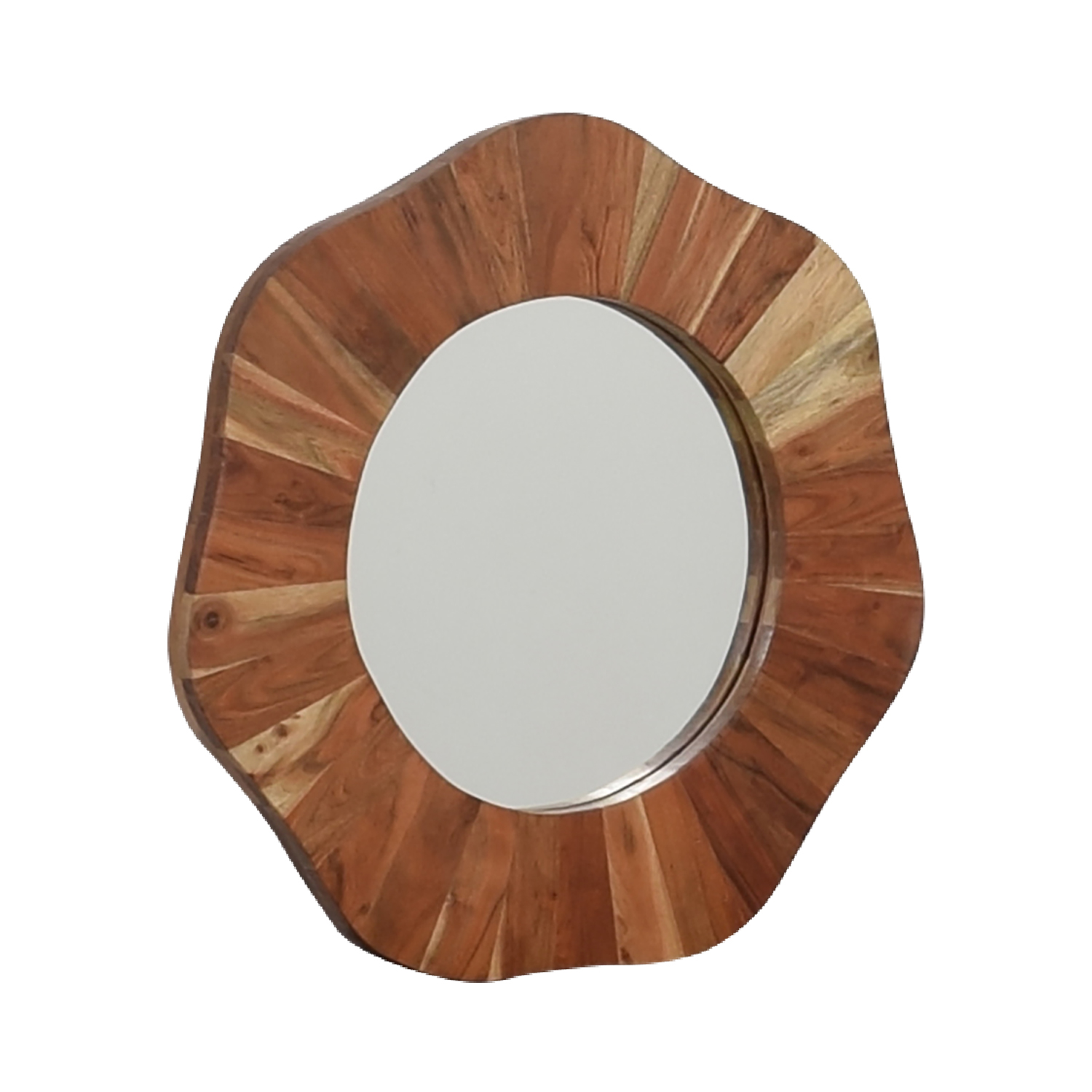 Rustic Round Wood Wall Mirror / Mirrors