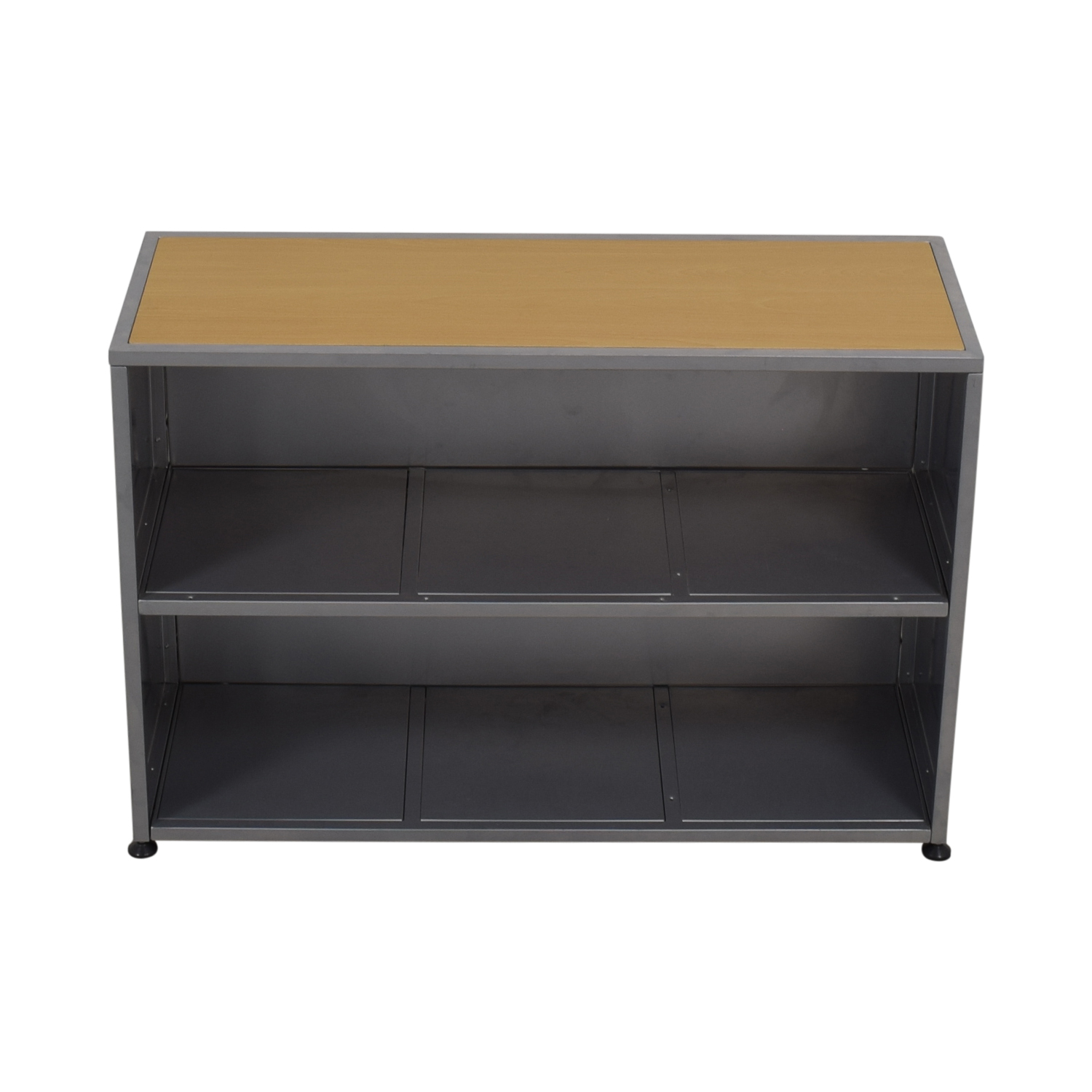 Industrial Grey Metal and Wood Bookshelf coupon