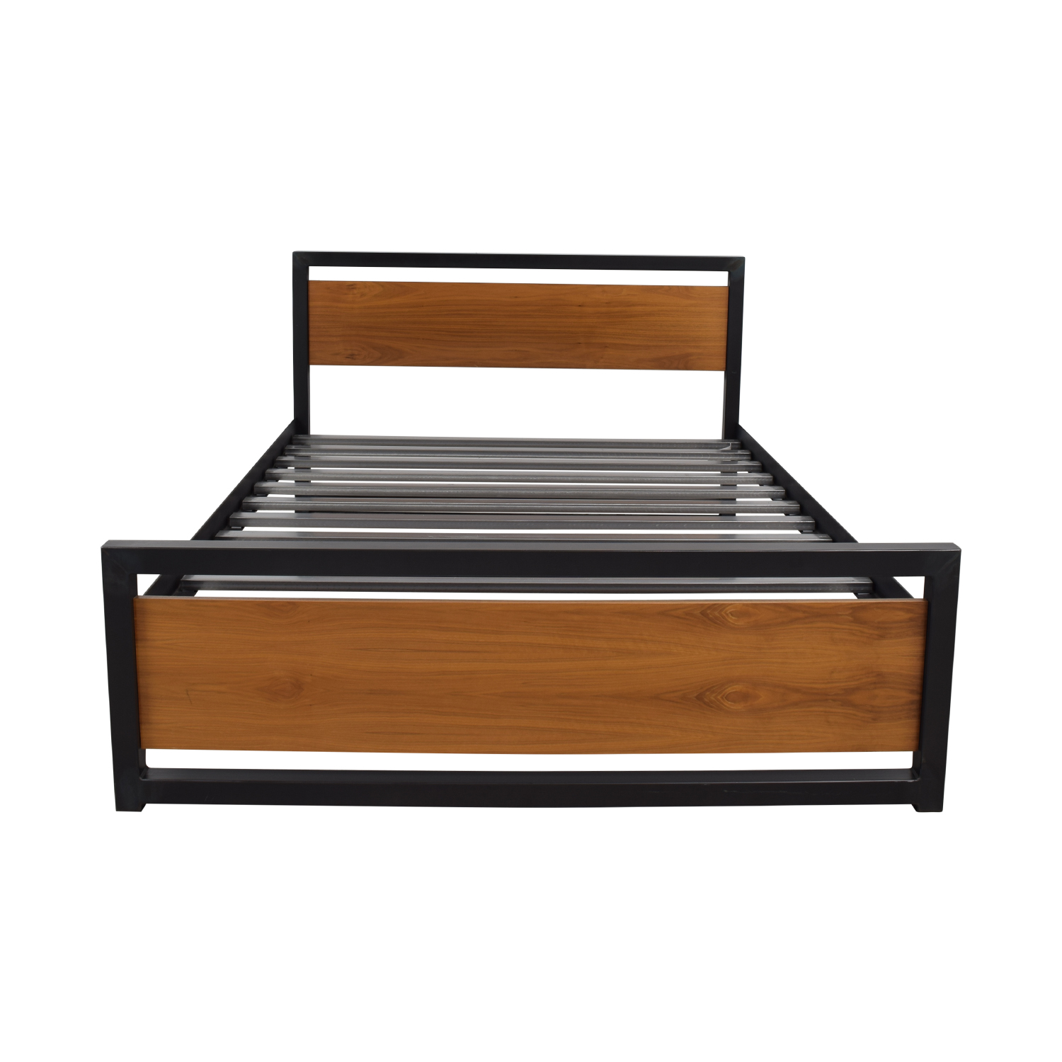 Room & Board Room & Board Piper Natural Steel Wood Panel Queen Bed Frame second hand