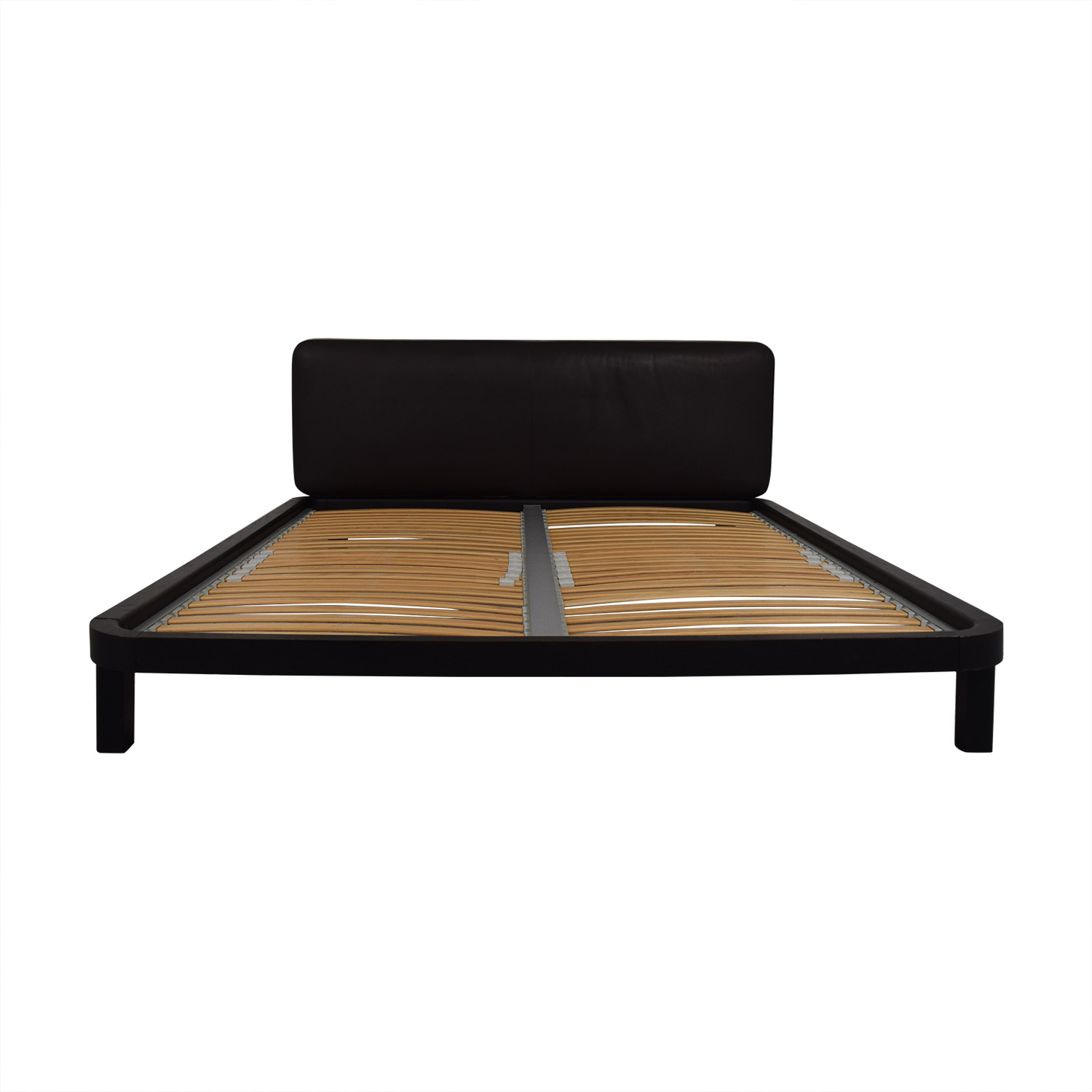Flou FLOU Italia Brown Queen Platform Bed Frame discount