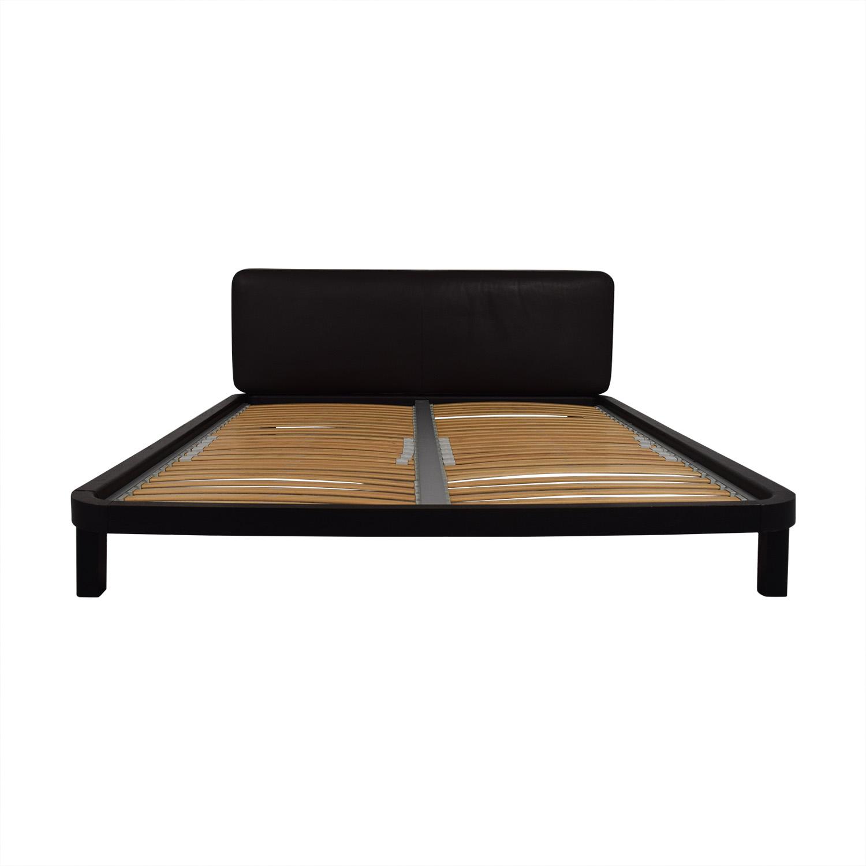 Flou FLOU Italia Brown Queen Platform Bed Frame discount