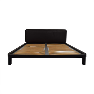 Flou FLOU Italia Brown Queen Platform Bed Frame used