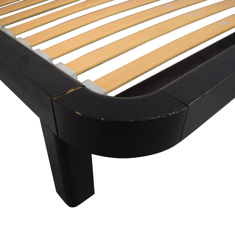 Flou FLOU Italia Brown Queen Platform Bed Frame second hand