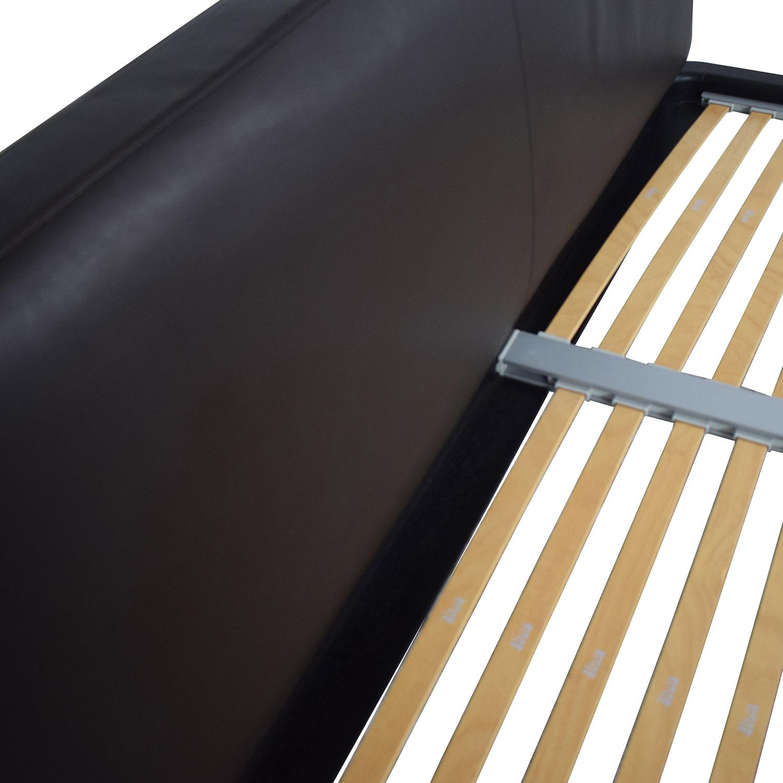 Flou FLOU Italia Brown Queen Platform Bed Frame