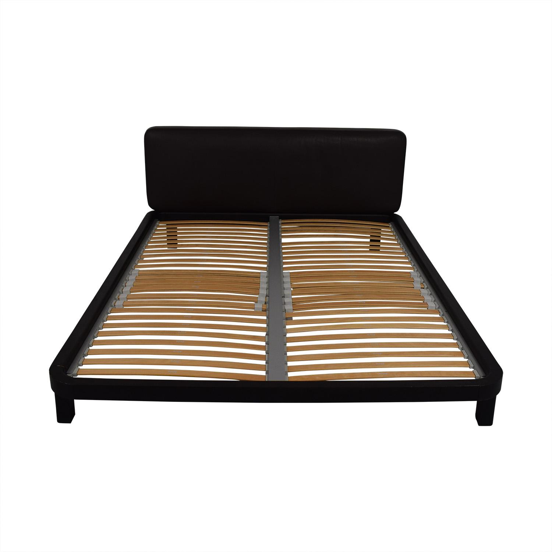 Flou FLOU Italia Brown Queen Platform Bed Frame on sale