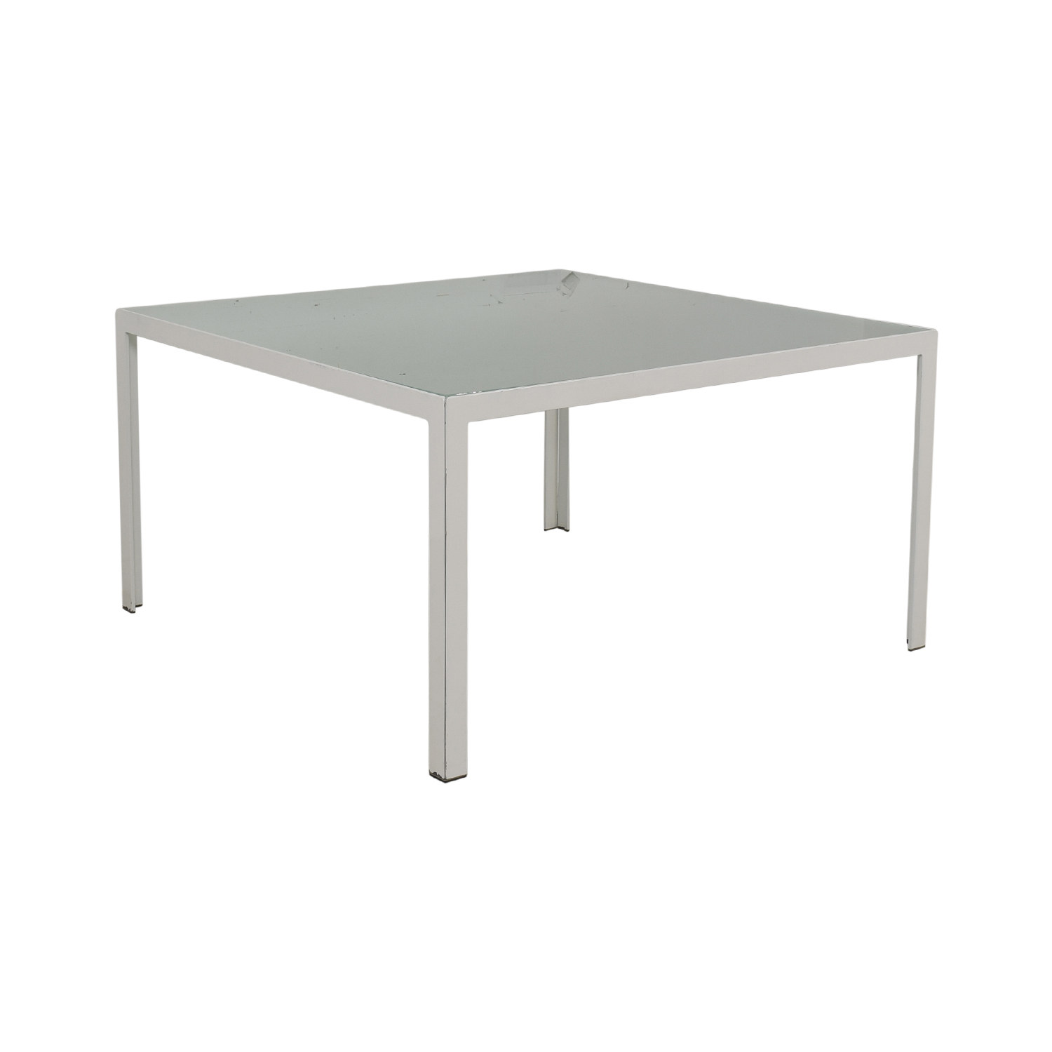 shop Monica Armani Monica Armani White and Glass Dining Table online