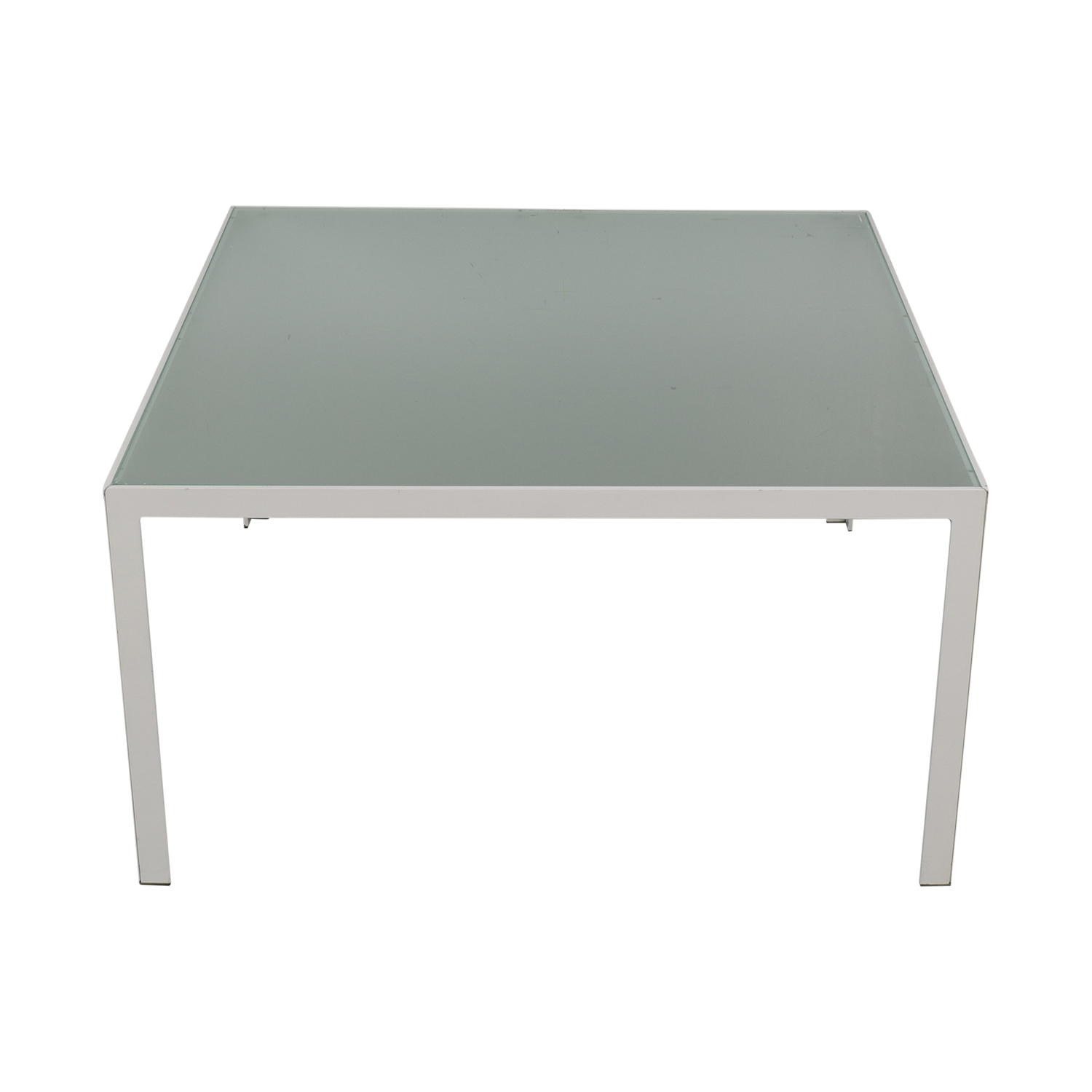 buy Monica Armani White and Glass Dining Table Monica Armani Tables