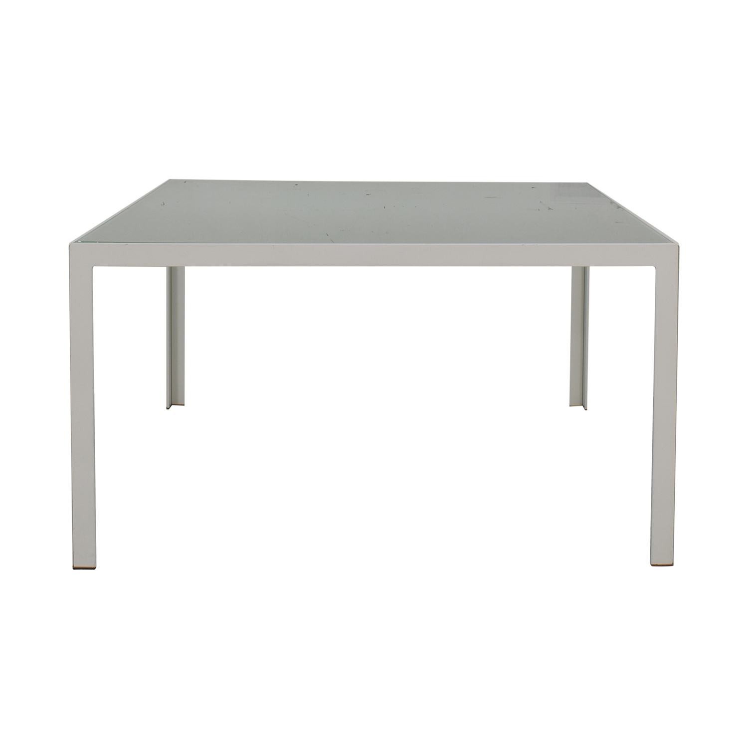 Monica Armani White and Glass Dining Table sale