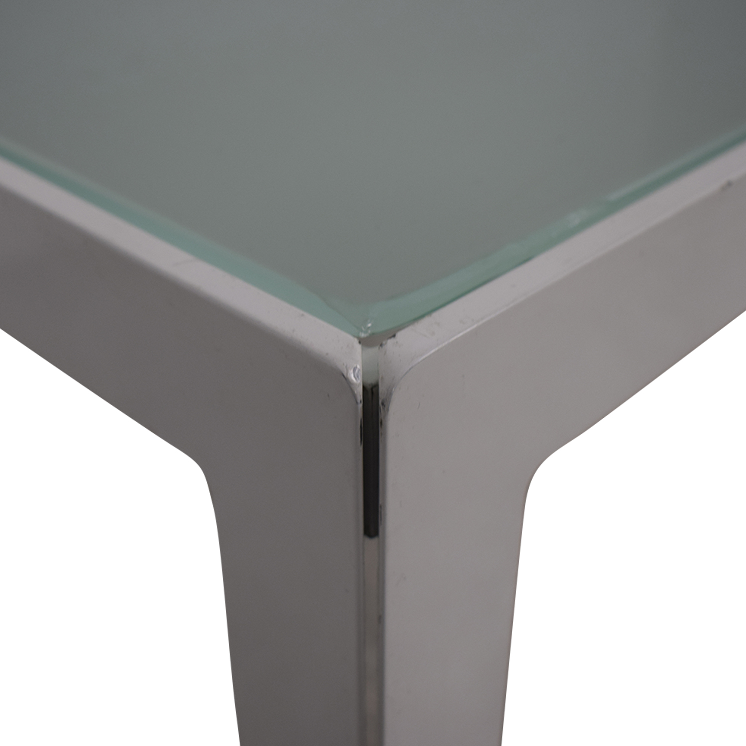 buy Monica Armani Monica Armani White and Glass Dining Table online