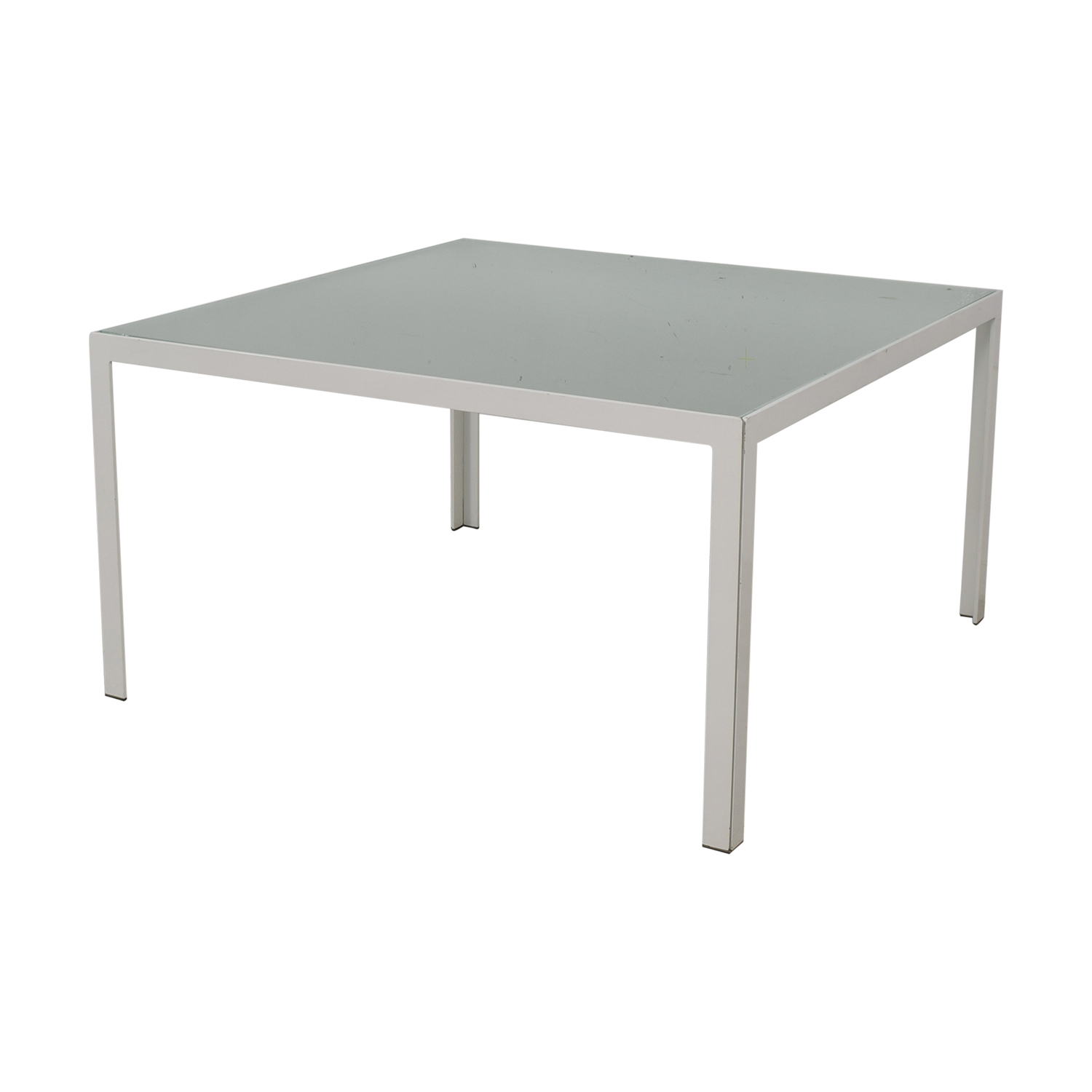 Monica Armani Monica Armani White and Glass Dining Table used