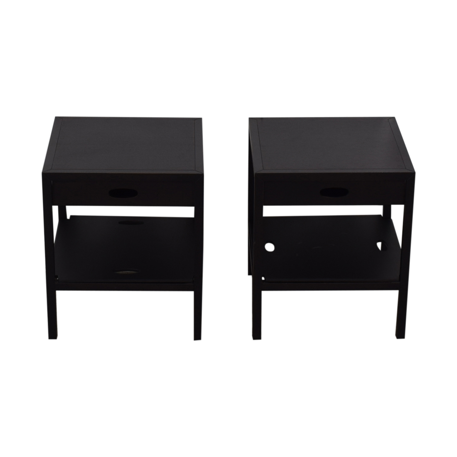 shop Spigoline Black Single Drawer Wenge End Tables Spigoline