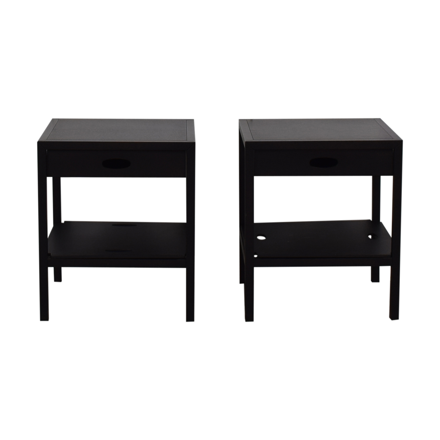 Spigoline Spigoline Black Single Drawer Wenge End Tables discount