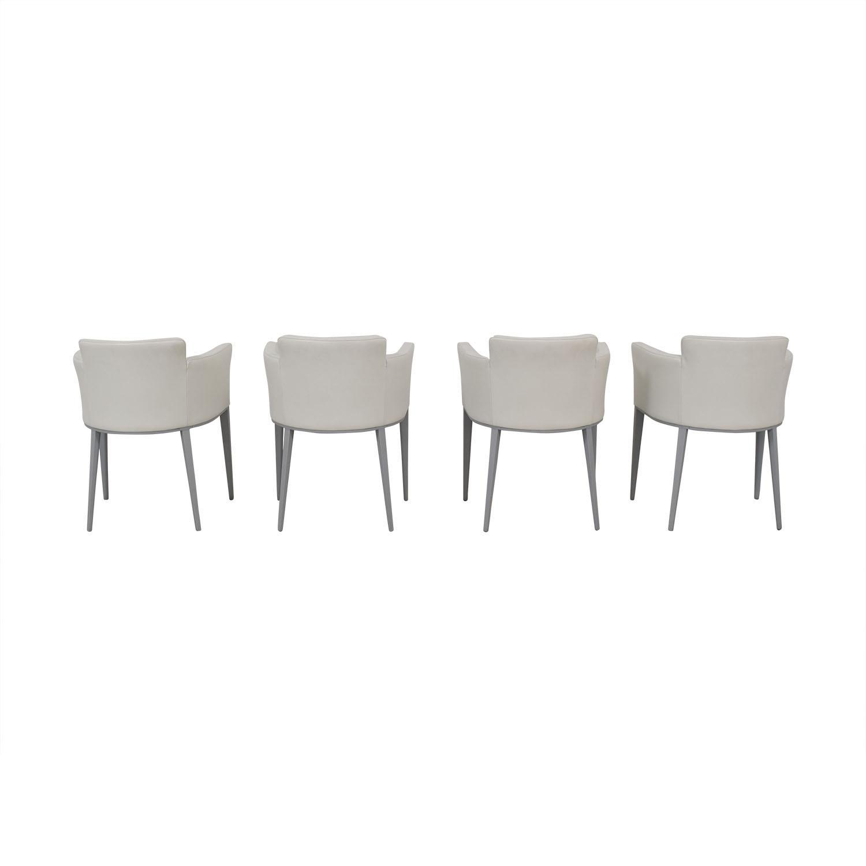 buy Cassina Ariane White Dining Chairs Cassina