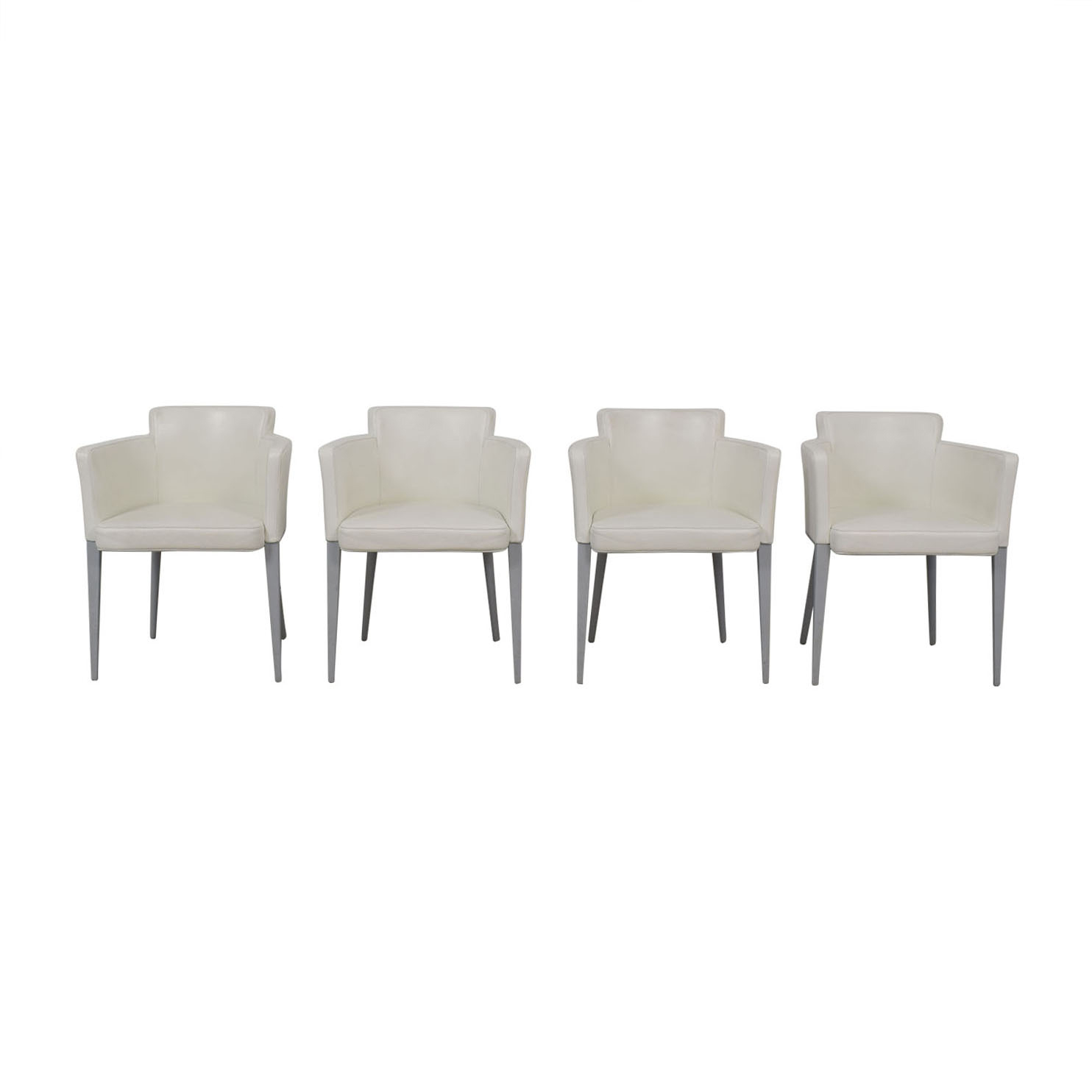 Cassina Cassina Ariane White Dining Chairs on sale