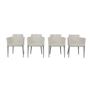 Cassina Cassina Ariane White Dining Chairs discount