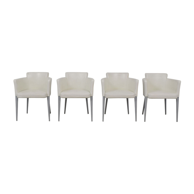 Cassina Cassina Ariane White Dining Chairs used