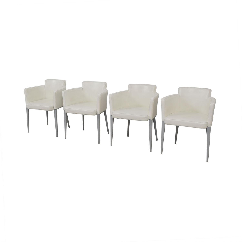 Cassina Cassina Ariane White Dining Chairs nyc