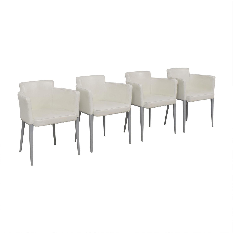 Cassina Ariane White Dining Chairs / Chairs