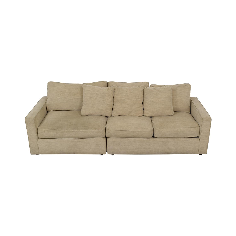 Room & Board Room & Board York Beige Three-Cushion Sofa for sale