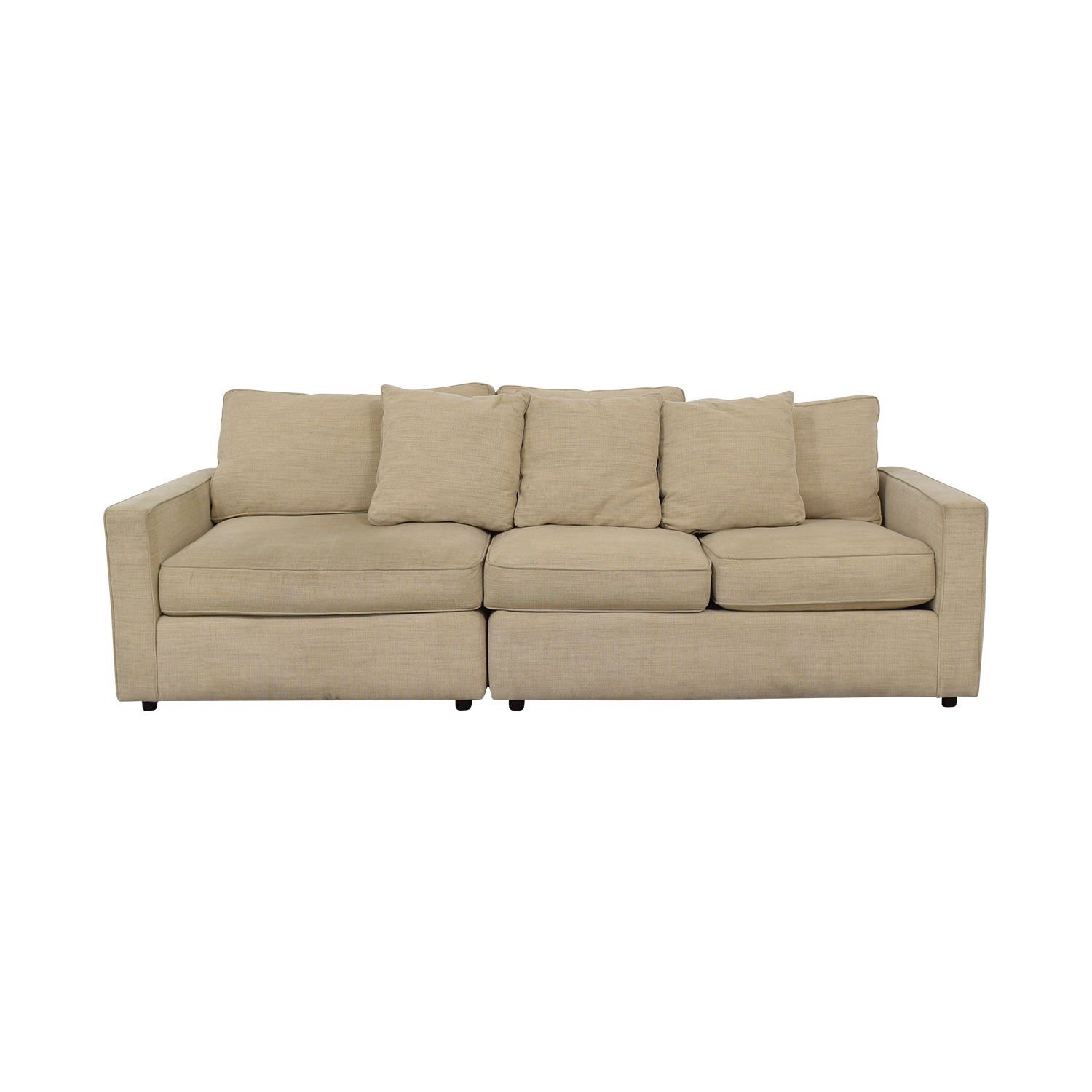 Room & Board Room & Board York Beige Three-Cushion Sofa