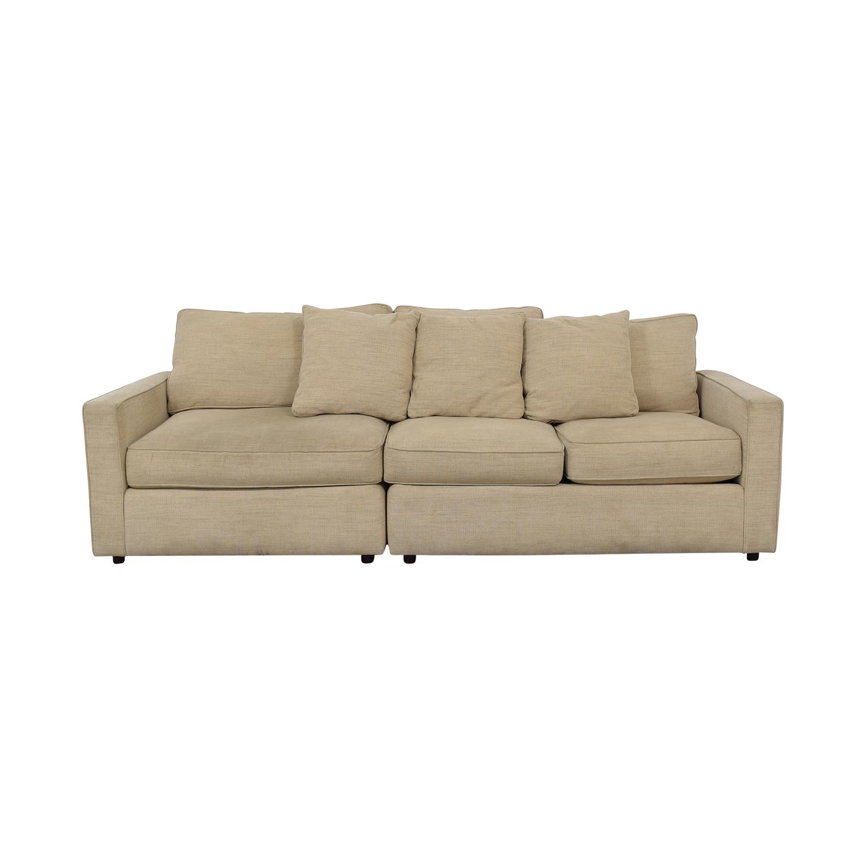 Room & Board Room & Board York Beige Three-Cushion Sofa price