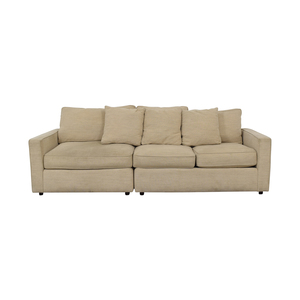 Room & Board Room & Board York Beige Three-Cushion Sofa second hand