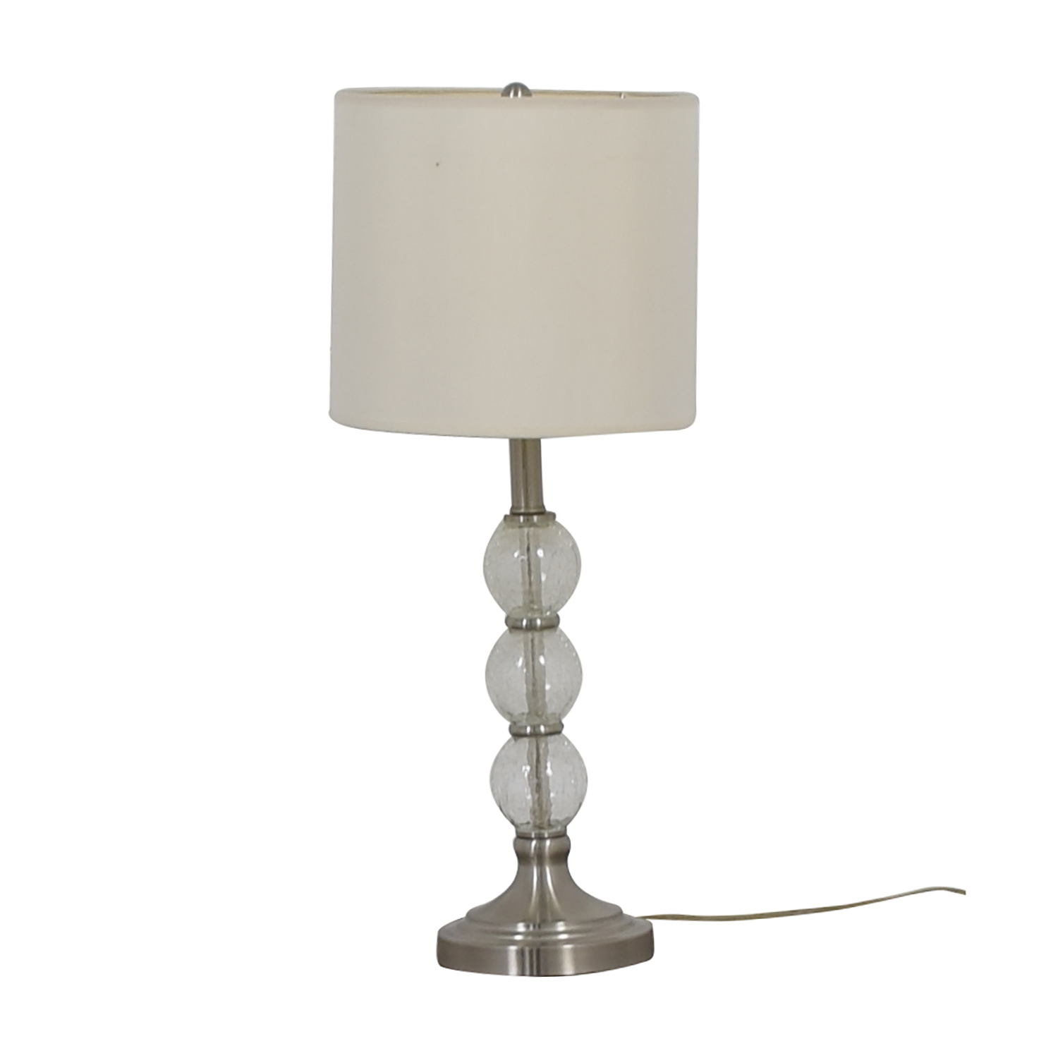 buy Glass Globe and Chrome Table Lamp