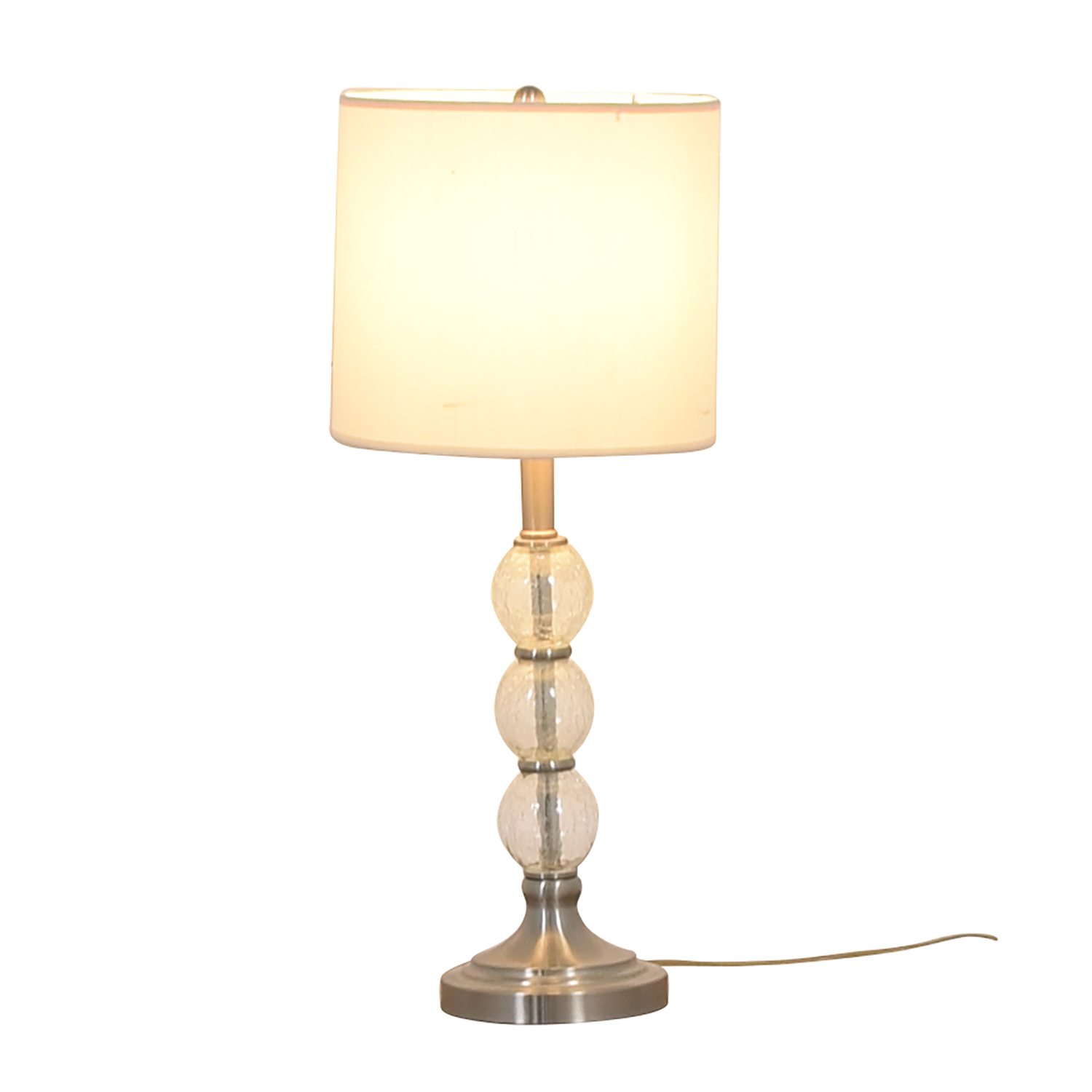 Glass Globe and Chrome Table Lamp coupon