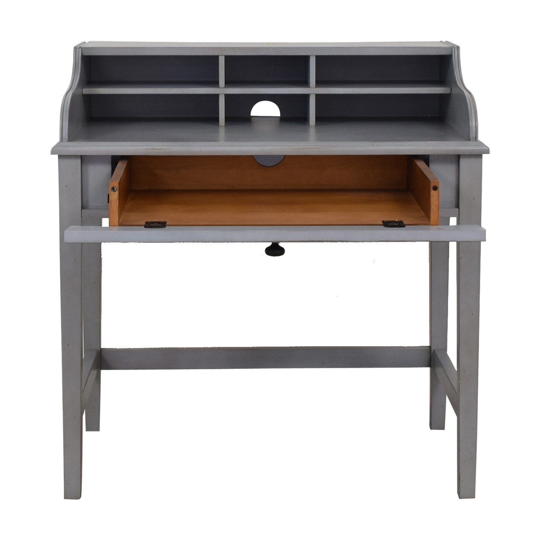 buy Pottery Barn Jacqueline Single Pull-out Tray Grey Desk Pottery Barn