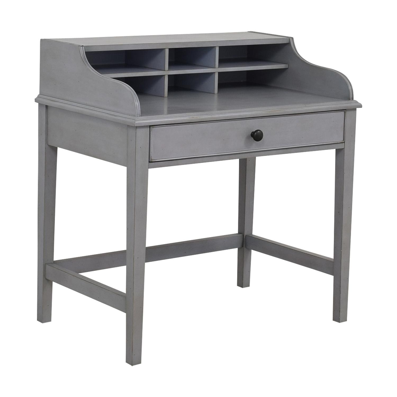 buy Pottery Barn Pottery Barn Jacqueline Single Pull-out Tray Grey Desk online