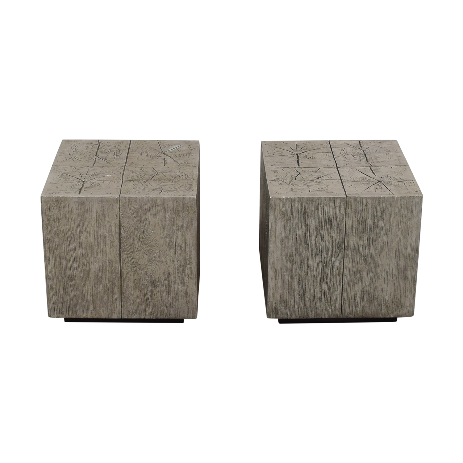 Z Gallerie Timber Silver End Tables / End Tables