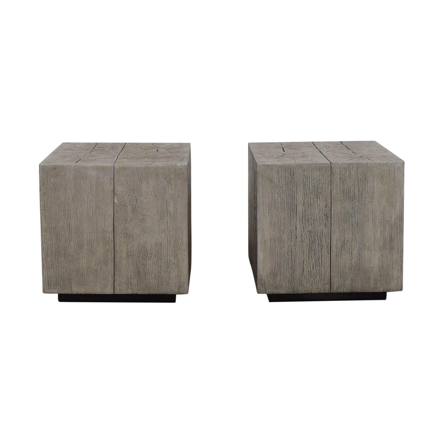 shop Z Gallerie Timber Silver End Tables Z Gallerie