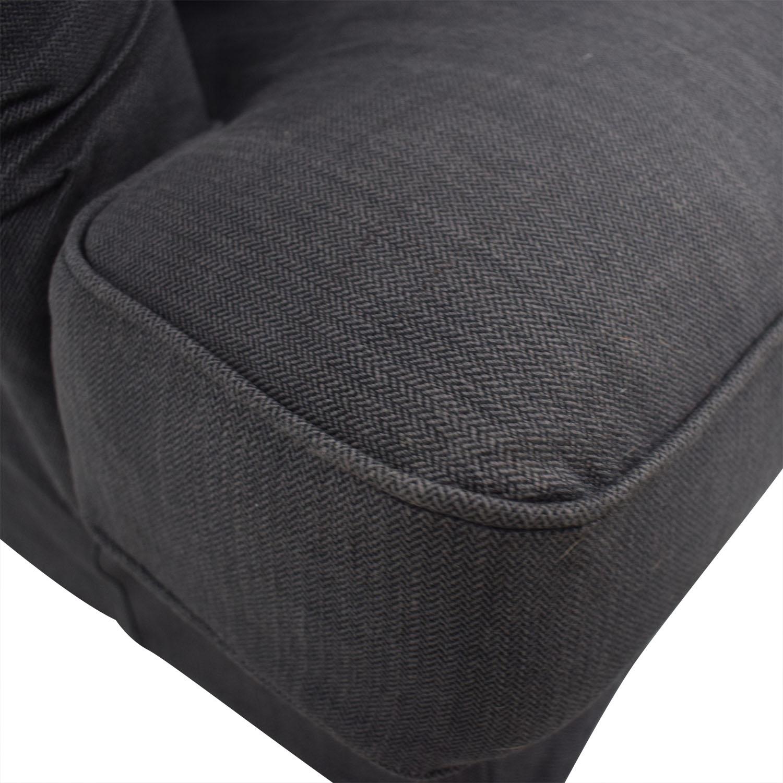 IKEA IKEA Grey Two-Cushion Loveseat and Ottoman dimensions