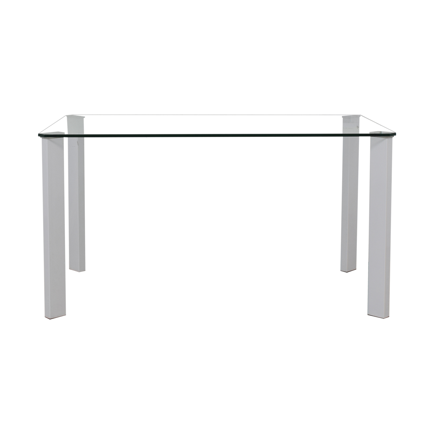 shop Italian Glass and White Table  Dinner Tables