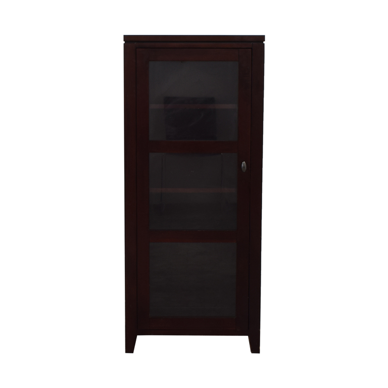 buy Crate & Barrel Kingston Tall Cabinet Crate & Barrel Storage