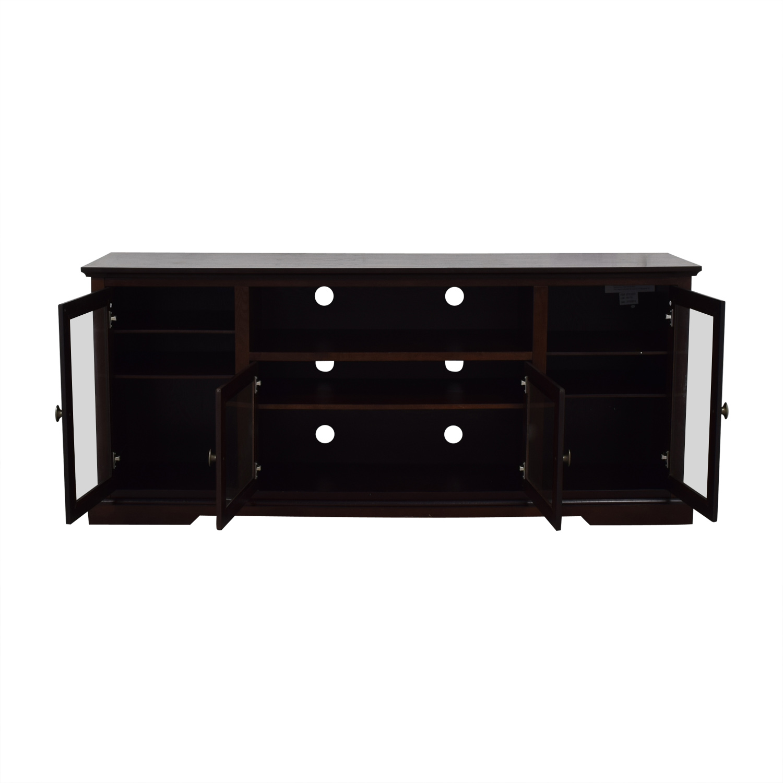buy Wayfair Glass & Wood Media Stand Wayfair Storage