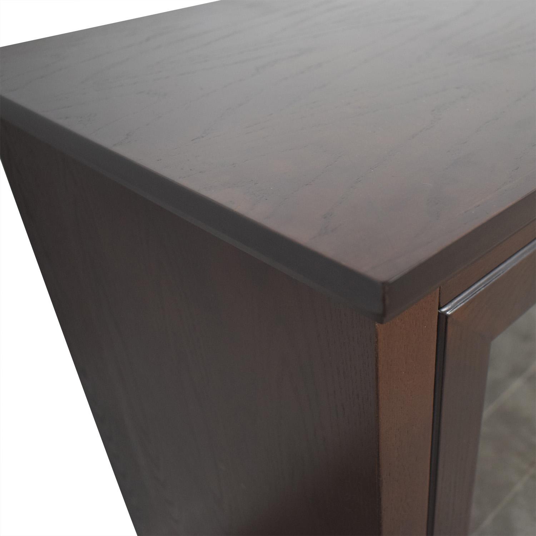 Wayfair Wayfair Glass & Wood Media Stand dimensions