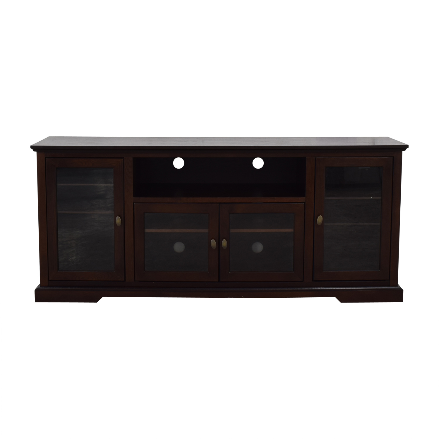 Wayfair Wayfair Glass & Wood Media Stand Media Units