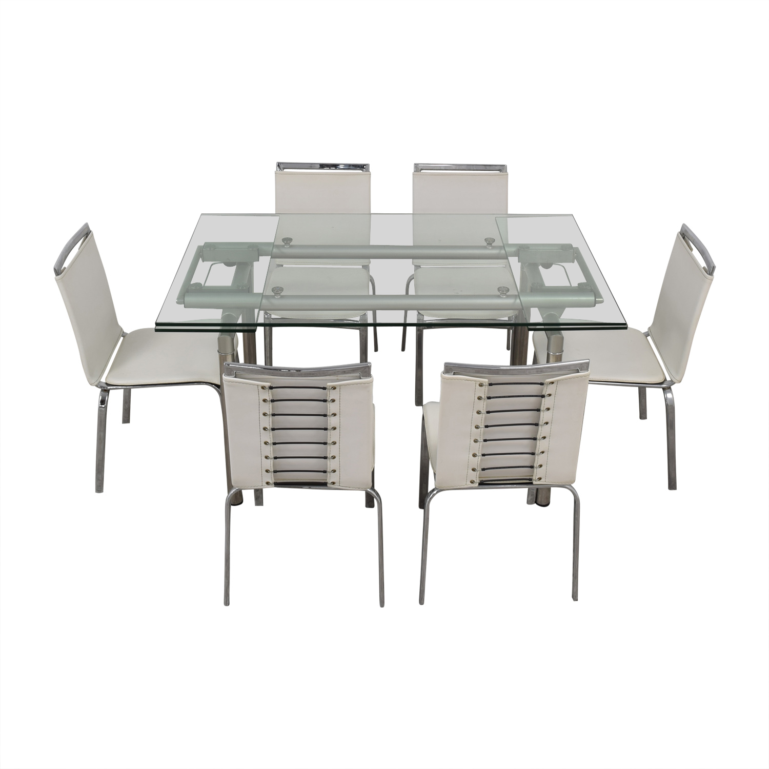 shop Roche Bobois Roche Bobois Glass Dining Set online