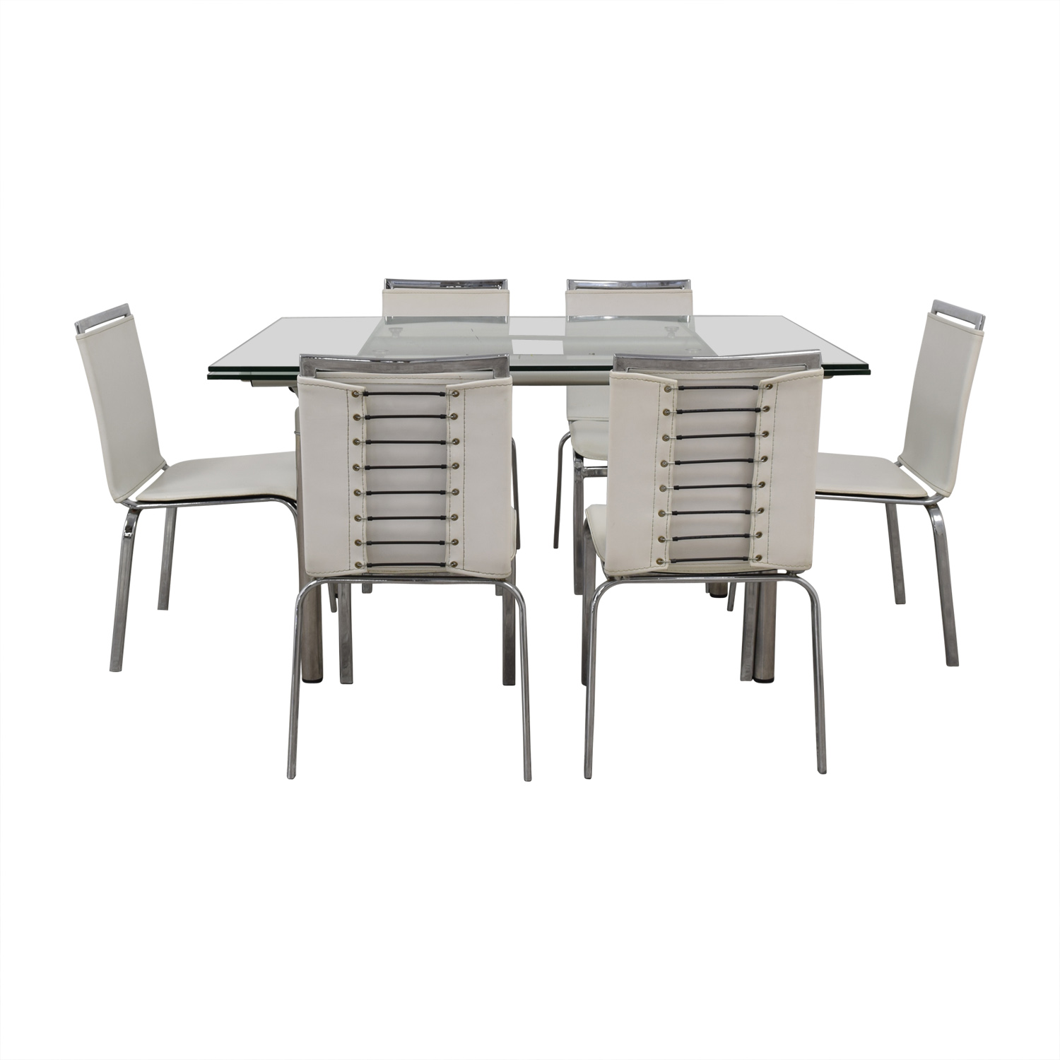 buy Roche Bobois Roche Bobois Glass Dining Set online