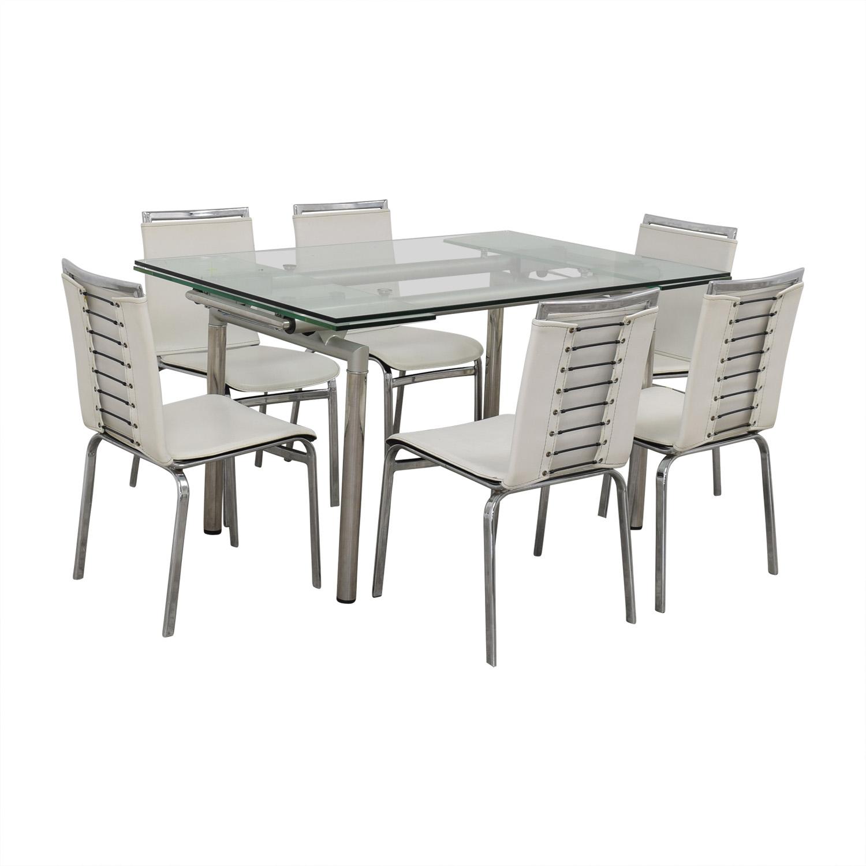 Roche Bobois Glass Dining Set sale