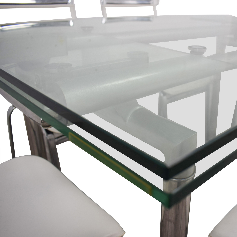 buy Roche Bobois Roche Bobois Glass Dining Set online