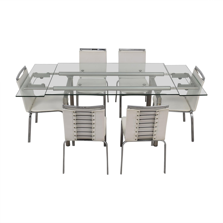 Roche Bobois Roche Bobois Glass Dining Set dimensions