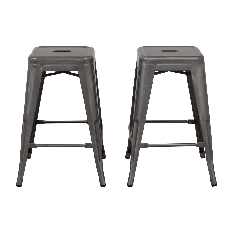 Admirable 74 Off Wayfair Wayfair Tolix Grey Counter Stools Chairs Alphanode Cool Chair Designs And Ideas Alphanodeonline