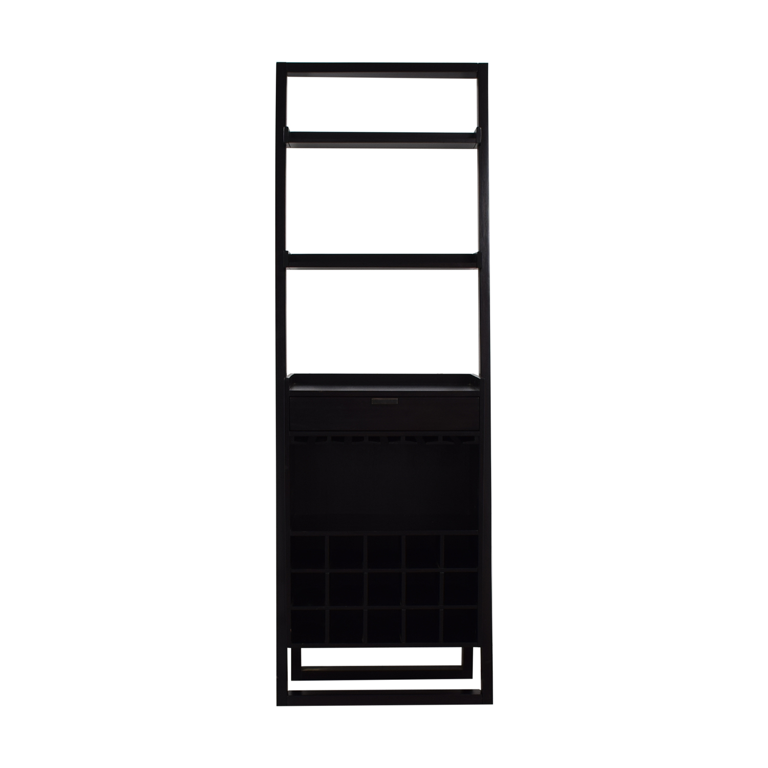 Crate & Barrel Crate & Barrel Brown Leaning Bar Bookcase dimensions