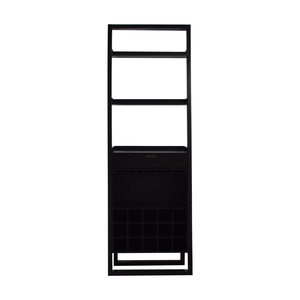 buy Crate & Barrel Brown Leaning Bar Bookcase Crate & Barrel