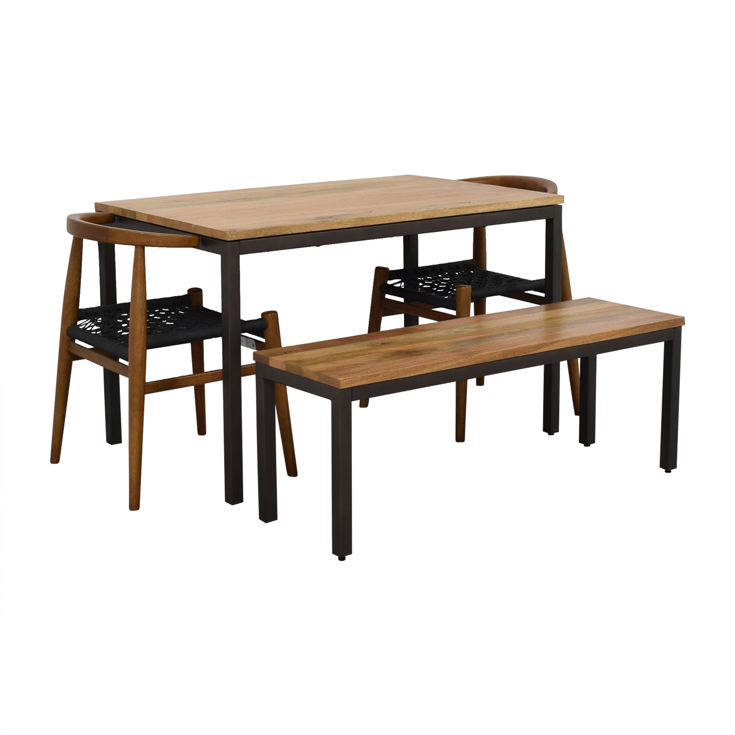 West Elm Dining Set with Chairs and Box Frame Dining Bench West Elm