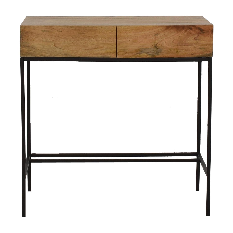 West Elm West Elm Industrial Storage Mini Desk wood/blackened legs